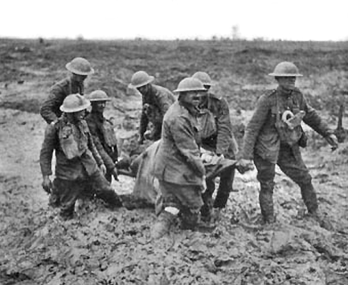 The Battle of Passchendaele, known both for its huge number casualties and the heavy mud (Source: www.aucklandmuseum.com)
