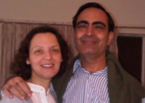 Valerie and her husband, Mohammad
