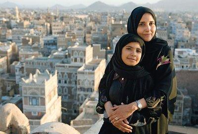 Nujood Ali with her lawyer, Shada Nasser (Photo courtesy Glamour Magazine)